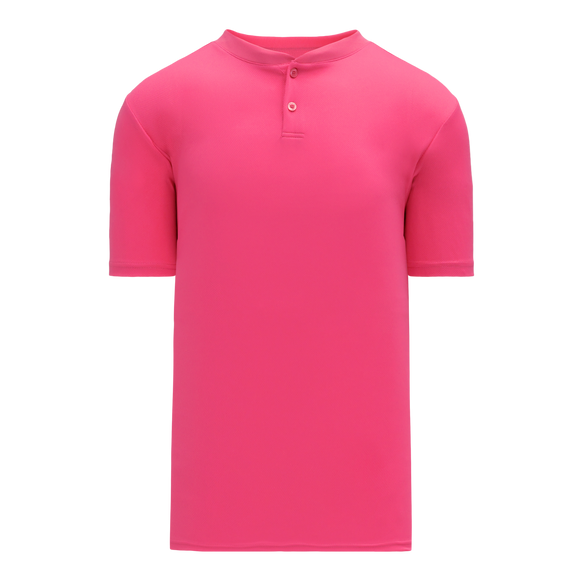 Athletic Knit (AK) BA1347Y-014 Youth Pink Two-Button Baseball Jersey