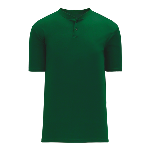 Athletic Knit (AK) BA1347Y-029 Youth Dark Green Two-Button Baseball Jersey