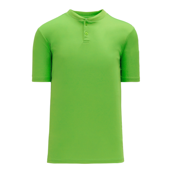 Athletic Knit (AK) BA1347Y-031 Youth Lime Green Two-Button Baseball Jersey