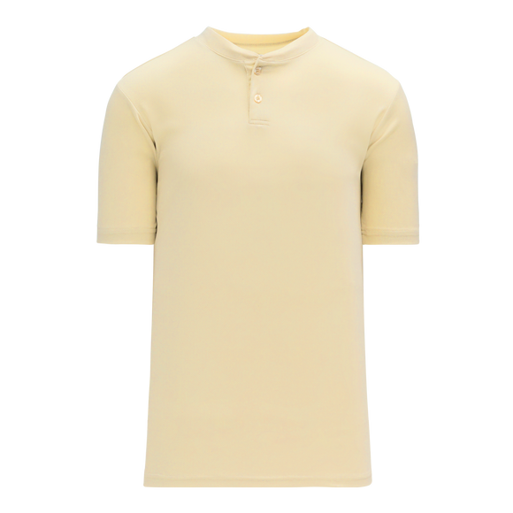 Athletic Knit (AK) BA1347 Sand Two-Button Baseball Jersey