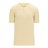 Athletic Knit (AK) BA1347A-048 Adult Sand Two-Button Baseball Jersey