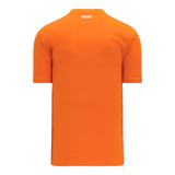 Athletic Knit (AK) BA1347-064 Orange Two-Button Baseball Jersey
