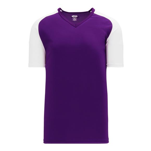 Athletic Knit (AK) BA1375-220 Purple/White Pullover Baseball Jersey