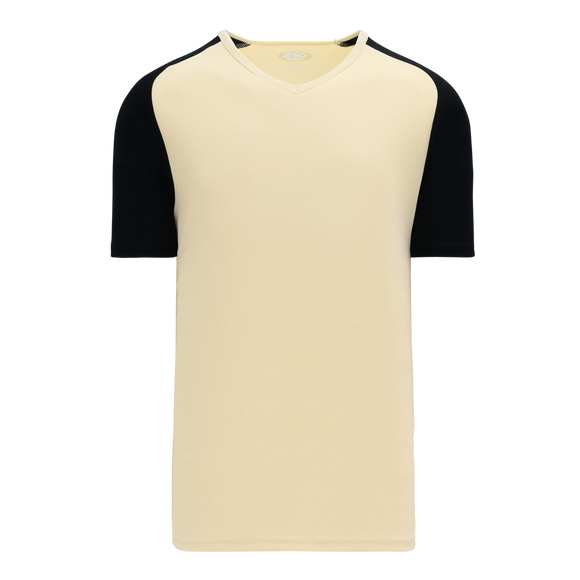 Athletic Knit (AK) BA1375 Sand/Black Pullover Baseball Jersey