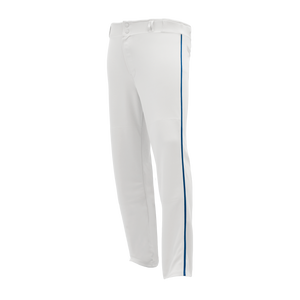 Athletic Knit (AK) BA1391A-207 Adult White/Royal Blue Pro Baseball Pants