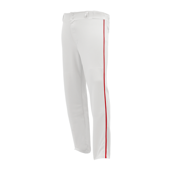 Athletic Knit (AK) BA1391 White/Red Pro Baseball Pants