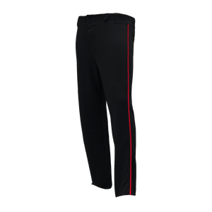Athletic Knit (AK) BA1391A-249 Adult Black/Red Pro Baseball Pants