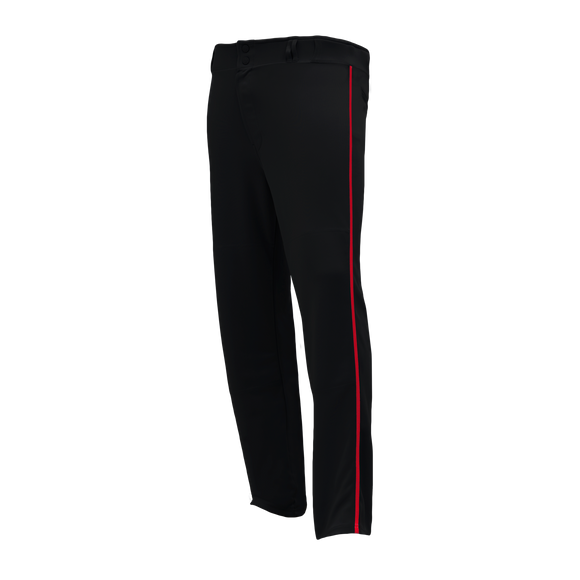 Athletic Knit (AK) BA1391 Black/Red Pro Baseball Pants