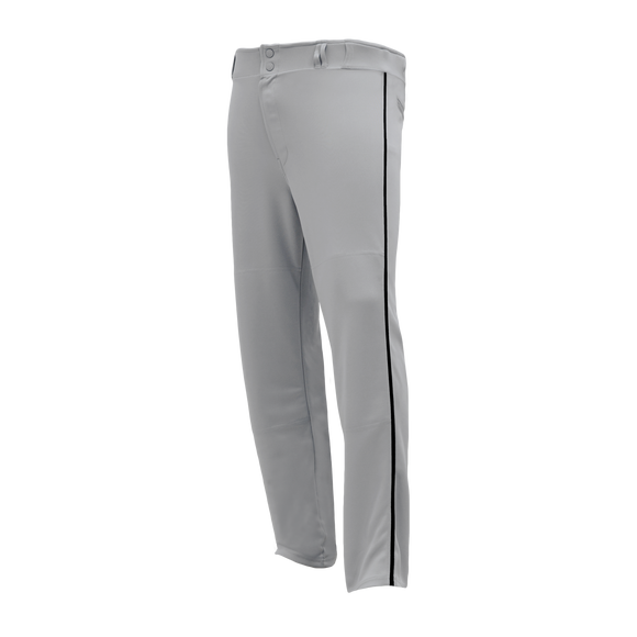 Athletic Knit (AK) BA1391-822 Grey/Black Pro Baseball Pants