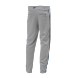 Athletic Knit (AK) BA1391A-827 Adult Grey/Royal Blue Pro Baseball Pants