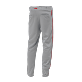 Athletic Knit (AK) BA1391 Grey/Red Pro Baseball Pants