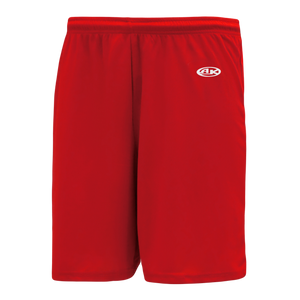 Athletic Knit (AK) BAS1700 Red Baseball Shorts