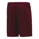 Athletic Knit (AK) BAS1700M-009 Mens Maroon Baseball Shorts