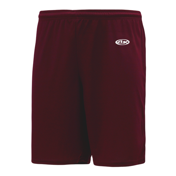 Athletic Knit (AK) BAS1700 Maroon Baseball Shorts