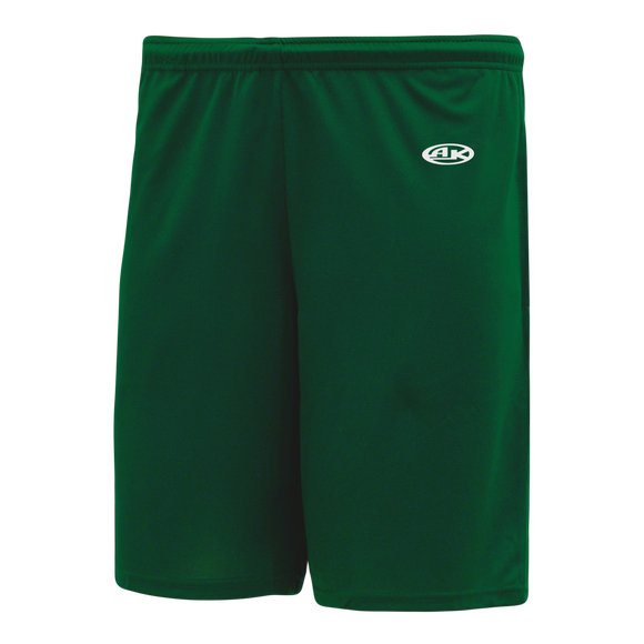 Athletic Knit (AK) BAS1700 Dark Green Baseball Shorts