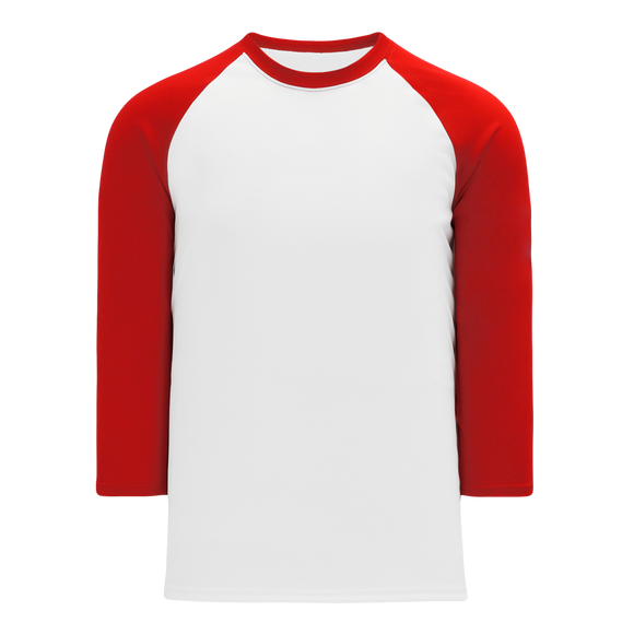 Athletic Knit (AK) BA1846Y-209 Youth White/Red Pullover Baseball Jersey