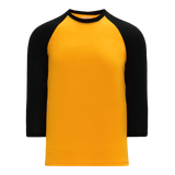 Athletic Knit (AK) BA1846 Gold/Black Pullover Baseball Jersey