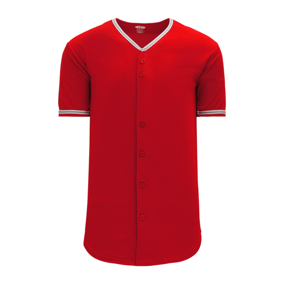 Athletic Knit (AK) BA5500-ANA587 Anaheim Full Button Baseball Jersey