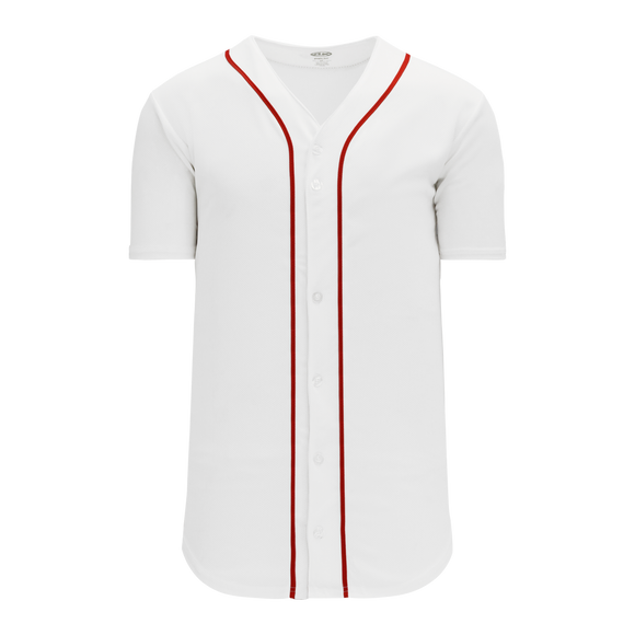 Athletic Knit (AK) BA5500 Boston Full Button Baseball Jersey