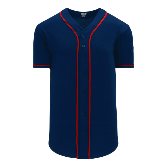 Athletic Knit (AK) BA5500-MIN697 Minnesota Full Button Baseball Jersey