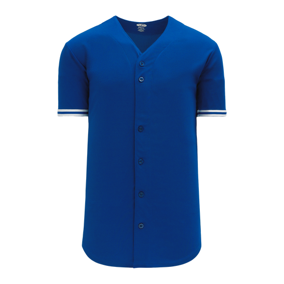 Athletic Knit (AK) BA5500-TOR568 Toronto Royal Blue Full Button Baseball Jersey