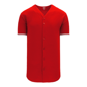 Athletic Knit (AK) BA5500 Toronto Red Full Button Baseball Jersey