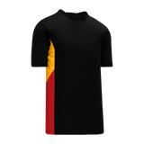Athletic Knit (AK) S563 Black/Gold/Red Soccer Jersey