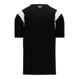 Athletic Knit (AK) BW569-221 Black/White Basketball Warmup Shirt