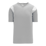Athletic Knit (AK) BW569-245 Grey/White Basketball Warmup Shirt