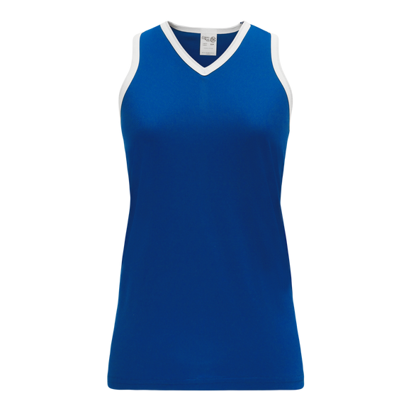 Athletic Knit (AK) V583L-206 Royal Blue/White Ladies Volleyball Jersey