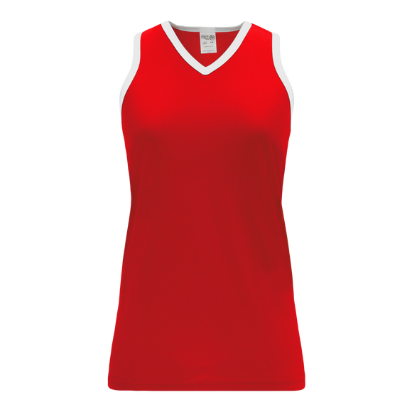Athletic Knit (AK) BA583L-208 Red/White Ladies Softball Jersey