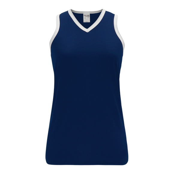 Athletic Knit (AK) V583L-216 Navy/White Ladies Volleyball Jersey
