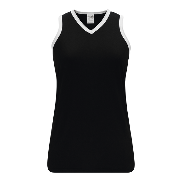 Athletic Knit (AK) V583L-221 Black/White Ladies Volleyball Jersey
