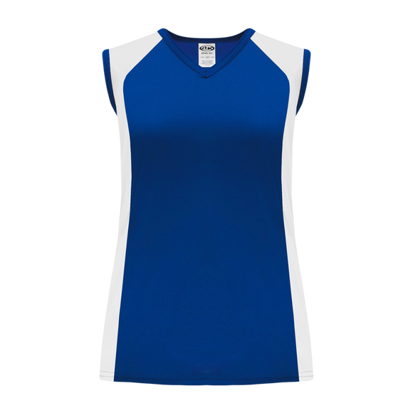 Athletic Knit (AK) V601L-206 Ladies Royal Blue/White Volleyball Jersey