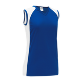 Athletic Knit (AK) LF601L Ladies Royal Blue/White Field Lacrosse Jersey