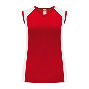 Athletic Knit (AK) BA601L-208 Ladies Red/White Softball Jersey