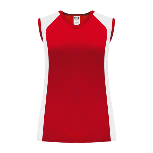 Athletic Knit (AK) V601L-208 Ladies Red/White Volleyball Jersey