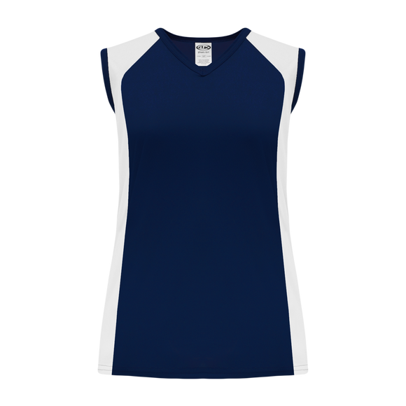 Athletic Knit (AK) BA601L-216 Ladies Navy/White Softball Jersey