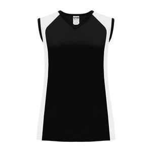Athletic Knit (AK) BA601L-221 Ladies Black/White Softball Jersey