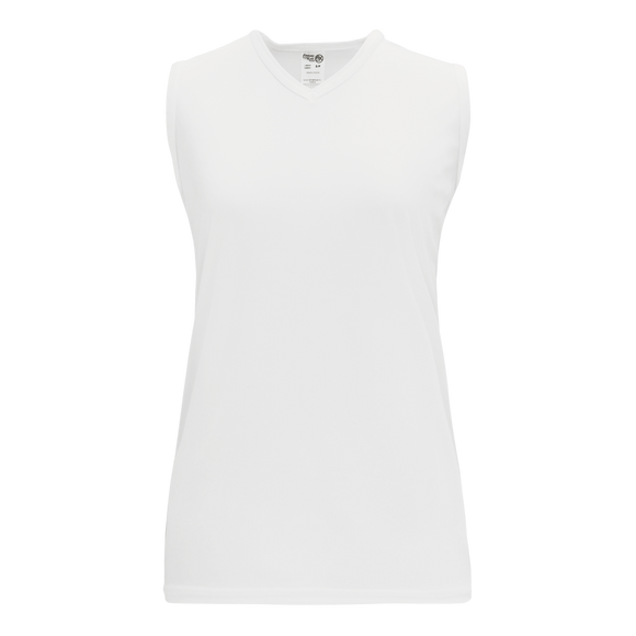 Athletic Knit (AK) V635L-000 Ladies White Volleyball Jersey