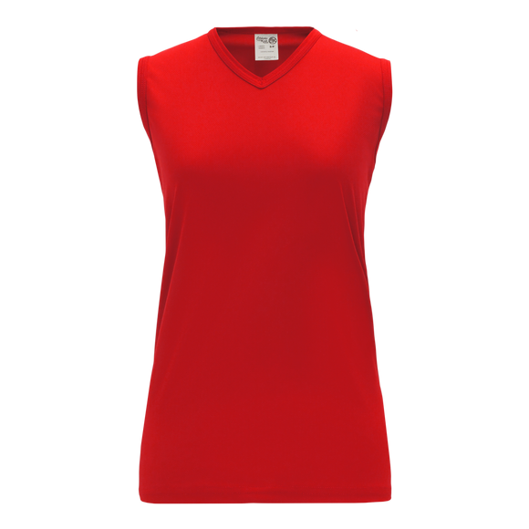 Athletic Knit (AK) BA635L-005 Ladies Red Softball Jersey
