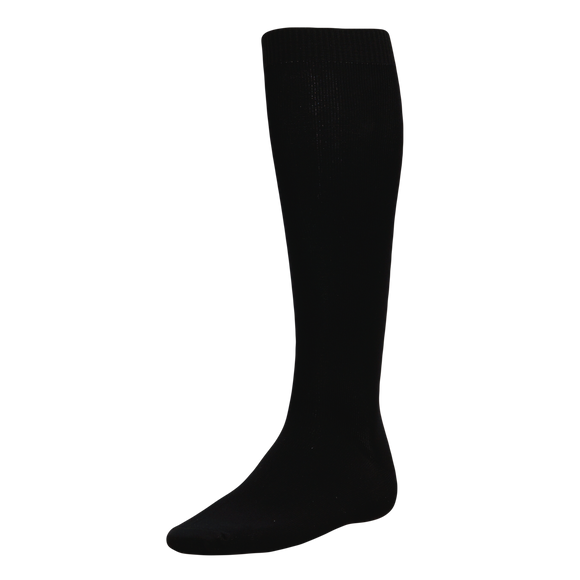 Athletic Knit (AK) BA90-001 Black Baseball Socks