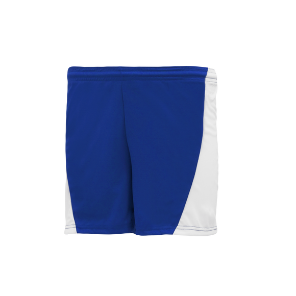 Athletic Knit (AK) BAS605L Royal Blue/White Ladies Baseball Shorts