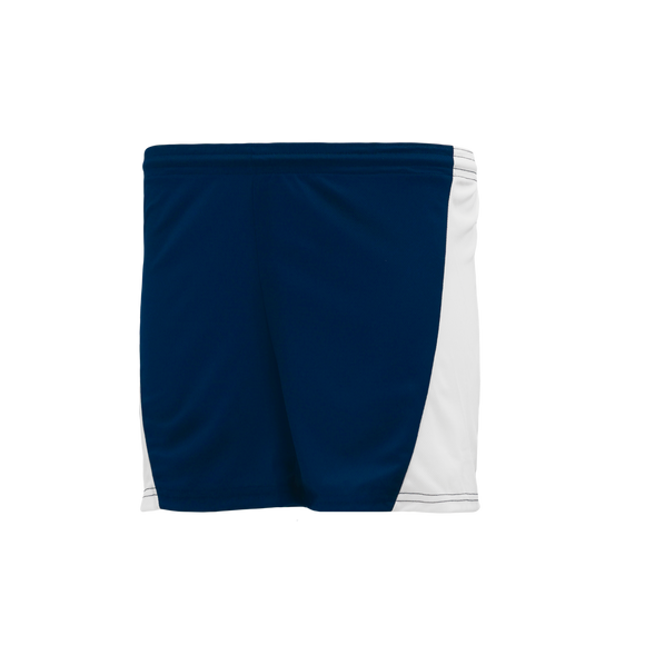 Athletic Knit (AK) BAS605L-216 Navy/White Ladies Baseball Shorts