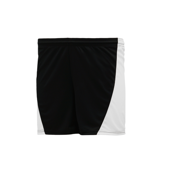 Athletic Knit (AK) BAS605L Black/White Ladies Baseball Shorts
