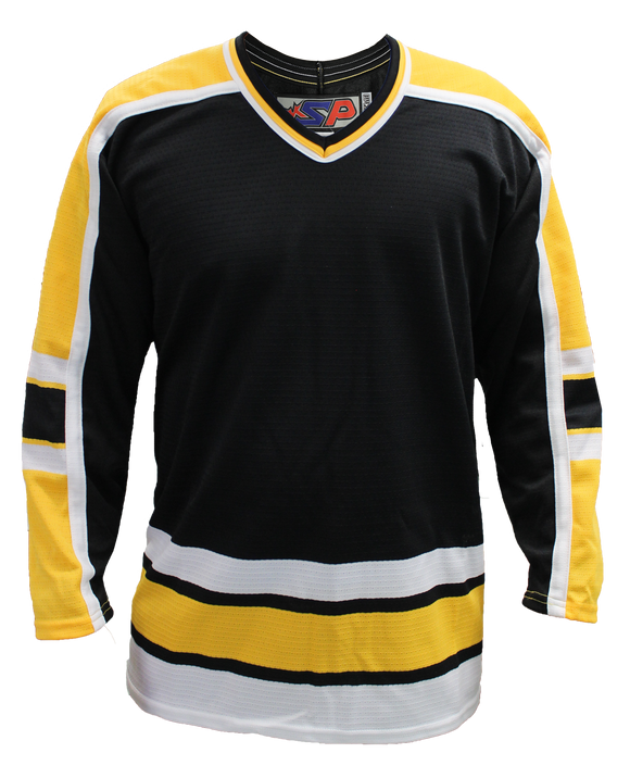 SP Apparel League Series Boston Bruins Black Sublimated Hockey Jersey - PSH Sports