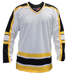 SP Apparel League Series Boston Bruins White Sublimated Hockey Jersey - PSH Sports