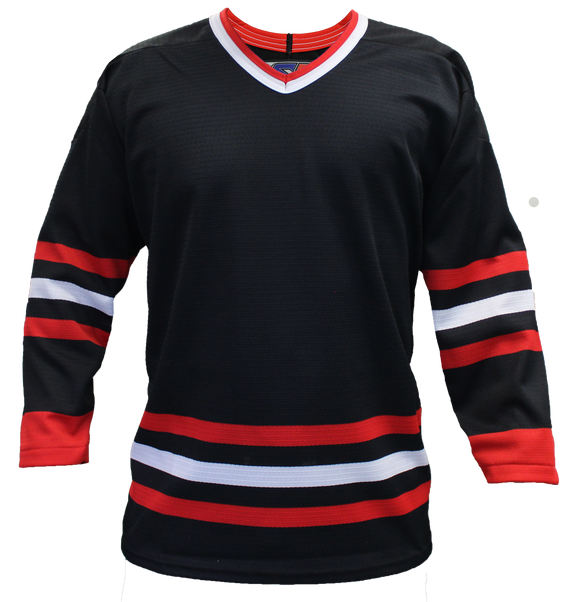 SP Apparel League Series Chicago Blackhawks Third Black Sublimated Hockey Jersey - PSH Sports