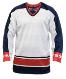 SP Apparel League Series Columbus Blue Jackets White Sublimated Hockey Jersey