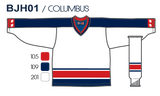 SP Apparel League Series Columbus Blue Jackets White Sublimated Hockey Jersey - PSH Sports